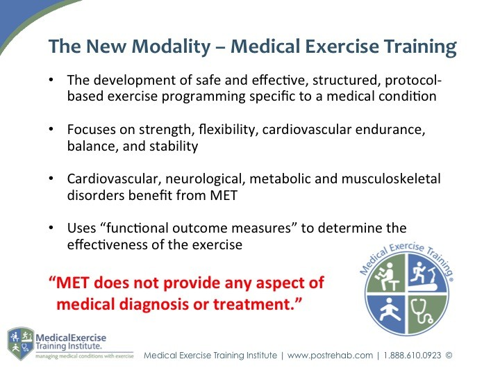 Medical Exercise Training Parameters